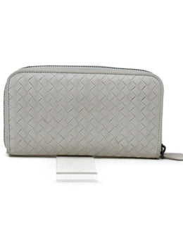 Bottega Veneta Off-White Woven Leather Wallet