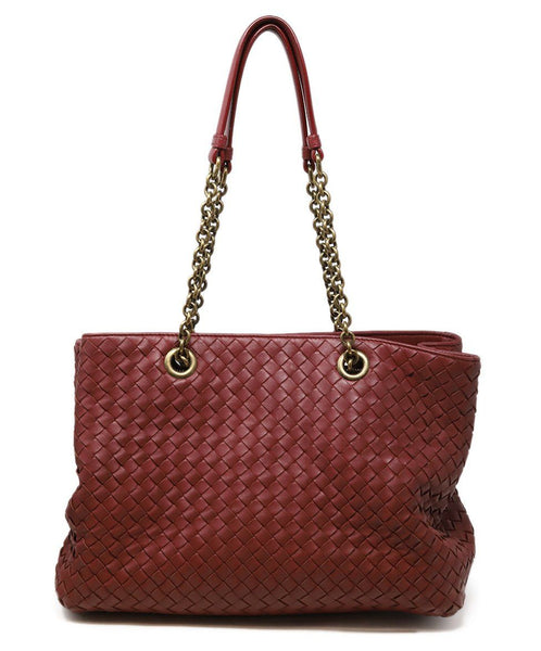 Bottega Veneta Red Burgundy Handbag