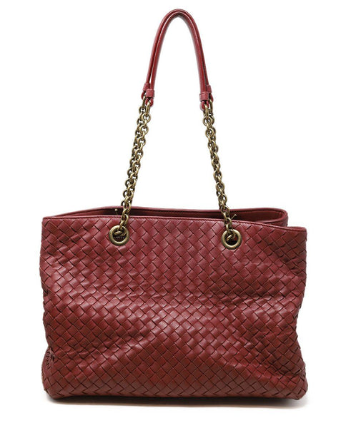 Bottega Veneta Red Burgundy Handbag 2