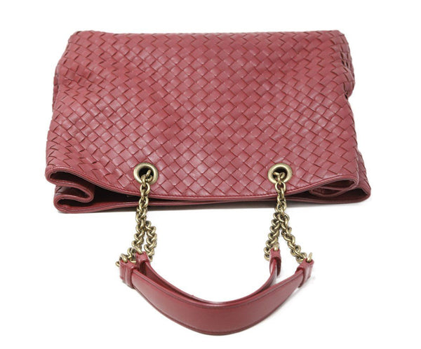 Bottega Veneta Red Burgundy Handbag 4