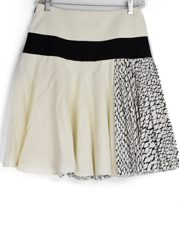 Bouchra Jarrar Ivory Black Viscose Cotton Skirt 1