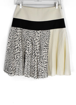 Bouchra Jarrar Ivory Black Viscose Cotton Skirt 2