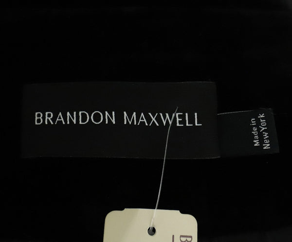 Brandon Maxwell Black Velvet Wrap Jacket 4