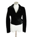 Brandon Maxwell Black Velvet Wrap Jacket 1