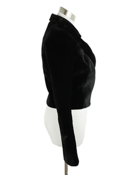 Brandon Maxwell Black Velvet Wrap Jacket 2