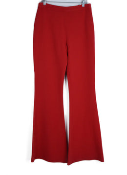 Brandon Maxwell Red Viscose Elastane Pants 1