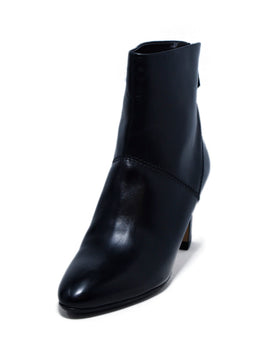 Brian Atwood Black Leather Booties 1