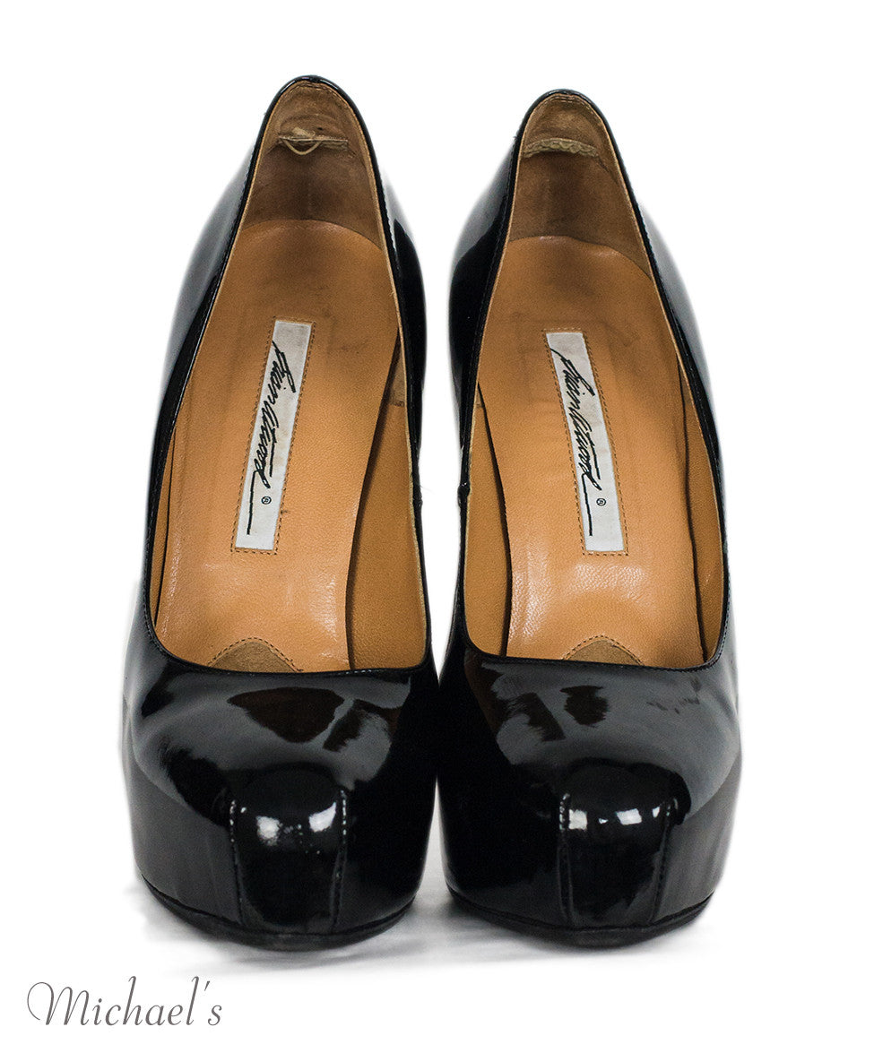 Brian Atwood Black Patent Leather Platform Pumps Sz 38 - Michael's Consignment NYC  - 3