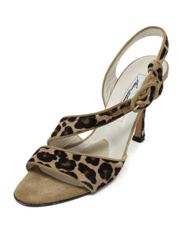 Brian Atwood Leopard Print Fur Suede Shoes 1