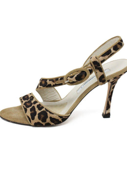 Brian Atwood Leopard Print Fur Suede Shoes 2
