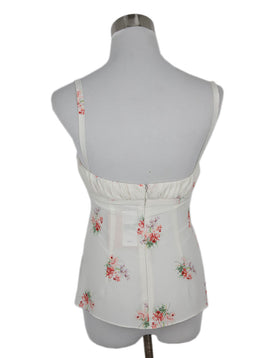 Brock Collection White Pink Floral Cotton Top 2