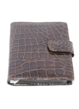 Card Case Brown Crocodile Leather Goods 1