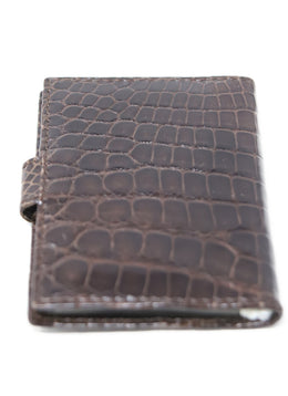 Card Case Brown Crocodile Leather Goods 2