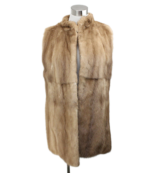 Vest Brown Pastel Mink Fur Outerwear 1