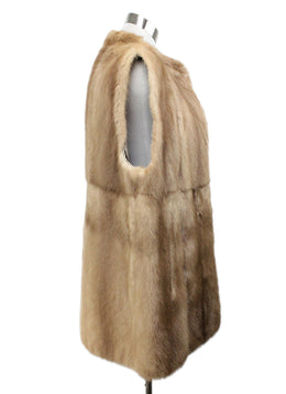 Vest Brown Pastel Mink Fur Outerwear 2