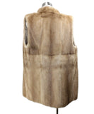 Vest Brown Pastel Mink Fur Outerwear 3