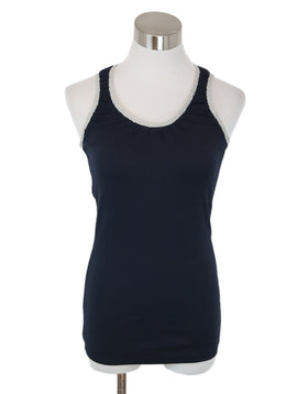 Brunello Cucinelli Navy Cotton Tank Top 1