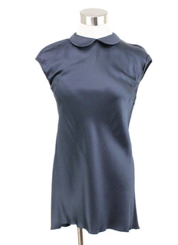Brunello Cucinelli Blue Navy Silk Top 1