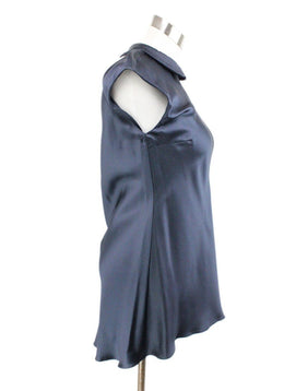 Brunello Cucinelli Blue Navy Silk Top 2