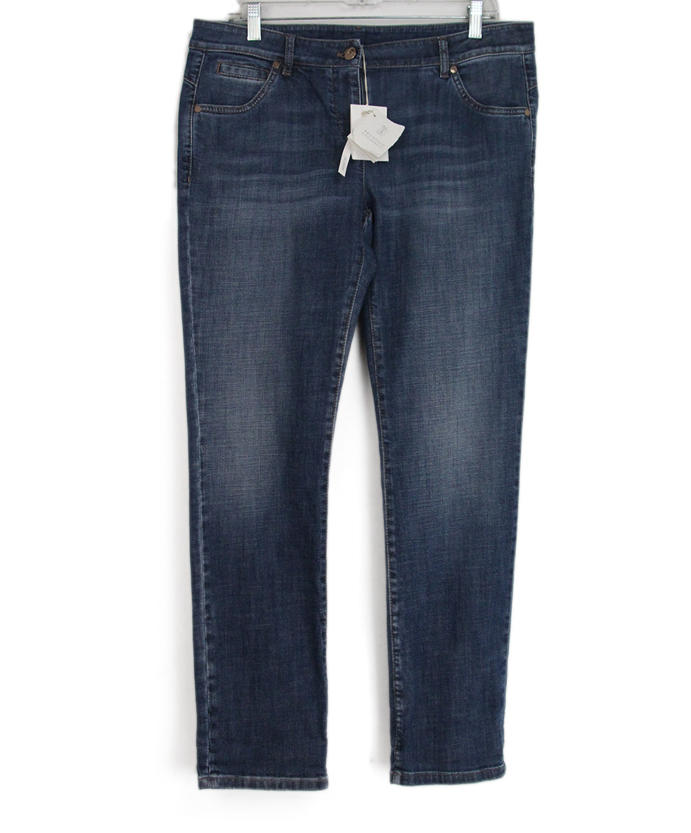 Brunello Cucinelli Blue denim pants 1