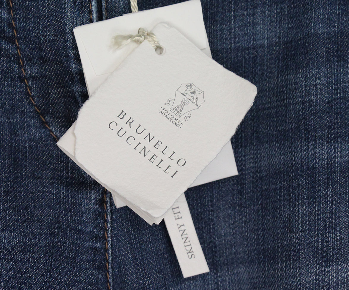 Brunello Cucinelli Blue denim pants 4