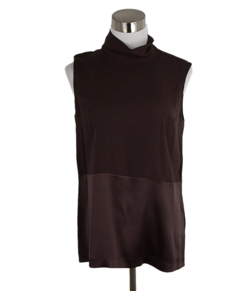 Brunello Cucinelli Brown Silk Top 1