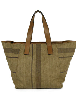 Brunello Cucinelli Canvas Tote Handbag | Brunello Cucinelli