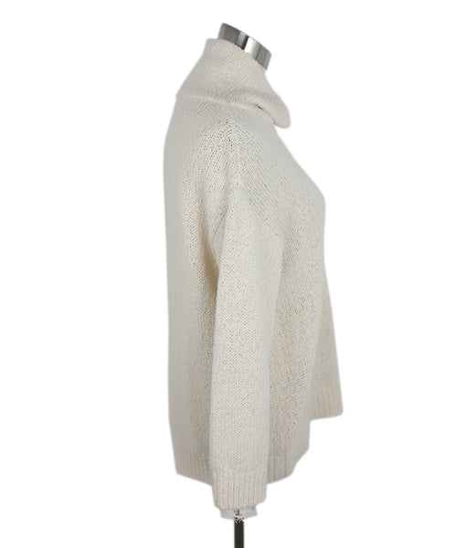 Brunello Cucinelli Cream Cotton Polyamide Sweater 2