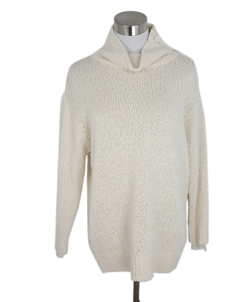 Brunello Cucinelli Cream Cotton Polyamide Sweater 1