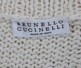 Brunello Cucinelli Cream Cotton Polyamide Sweater 4
