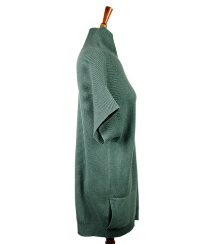 Brunello Cucinelli Green Cashmere Sweater 1