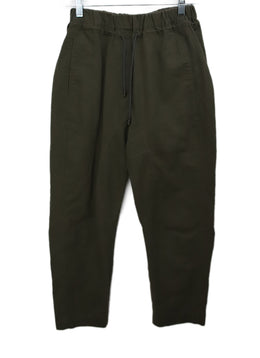 Brunello Cucinelli Olive Green Cotton Pants 1