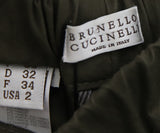 Brunello Cucinelli Olive Green Cotton Pants 3