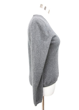 Brunello Cucinelli Grey Cashmere Sweater 2