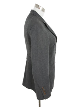 Brunello Cucinelli Grey Cashmere Wool Jacket 2