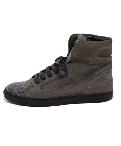 Brunello Cucinelli Grey Leather Sneakers 1