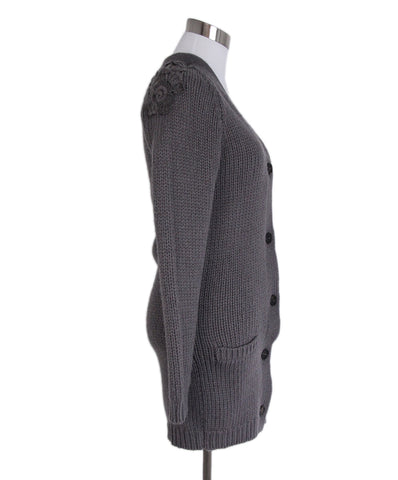 Brunello Cucinelli Grey Mauve Cardigan 1