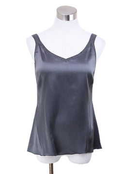 Blouse Brunello Cucinelli Grey Dark Silk Cashmere Top 1