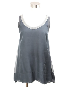 Brunello Cucinelli Grey Silver Tank Top 1