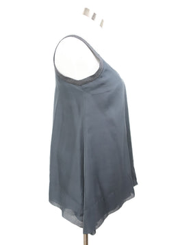 Brunello Cucinelli Grey Silver Tank Top 2