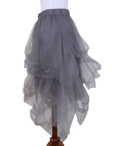 Brunello Cucinelli Grey Tulle Skirt 2