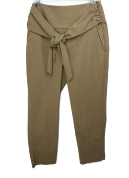 Brunello Cucinelli Khaki Cotton Pants 1