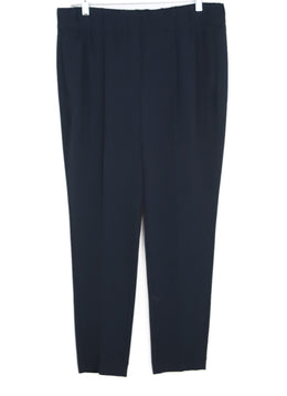 Brunello Cucinelli Blue Navy Acetate Pants 1