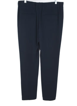 Brunello Cucinelli Blue Navy Acetate Pants 2