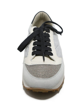 Brunello Cucinelli Grey Lace-up Sneakers 2