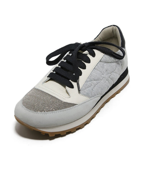Brunello Cucinelli Grey Lace-up Sneakers 1