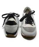 Brunello Cucinelli Grey Lace-up Sneakers 3