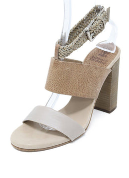 Brunello Cucinelli Beige Tan Leather Sandals