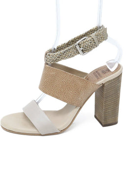 Brunello Cucinelli Beige Tan Leather Sandals 39