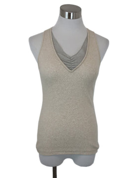 Brunello Cucinelli Neutral Cotton Tank Top 1